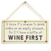 бутылки для водки оптовых-Я знаю, что неразумно пить водку на пустой желудок, так плохо иметь бутылку вина первым-смешной знак вина