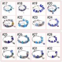 Wholesale popular gold chain styles online - Popular Styles Sterling Sliver Plated Chains European Beads cm Charm Bracelets DIY Jewelry Beaded Link