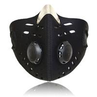 masque anti-poussière de charbon actif achat en gros de-Masque facial anti-poussière résistant au vent pour le cardio-training en cours d'exécution