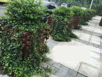 ingrosso artificial plants ivy-Foglie di edera Artificiale Foglie finte Appeso alle viti Foglie di piante Ghirlanda Home Garden Poison Ivy Wall Mounted Home Parco Decorazione del giardino