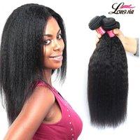 Wholesale Process Hair - 8A Brazilian Kinky Straight Hair Cheap Peruvian Malaysian Indian Virgin Human Hair Extensions Brazilain Virgin kinky Straight Hair Bundles