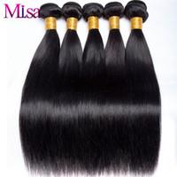 купить переплетение бразильского человеческого волоса оптовых-Brazilian Straight Hair Weave Bundle 1 Pc Can Buy 4 or 3 Bundles Non Remy Hair Extensions Mi Lisa Weave Human Bundles