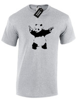 Wholesale t shirt design panda for sale - Group buy PANDA BANKSY MENS T SHIRT TEE FUNNY URBAN ART GRAFFITI DESIGN HIPSTER FASHION Funny Unisex Casual gift