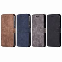 Wholesale flip cell phones online - For Iphone XR XS MAX Galaxy Note9 S9 Retro Matte Leather Wallet Case For LG K8 K10 Frosted Flip Cover Card Slot ID Cell Phone Pouches
