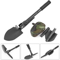 Wholesale dibble tool for sale - Group buy Portable Folding Shovel Survival Spade Trowel Dibble Pick Multi function Camping Shovel Emergency Garden Camping Outdoor Tool