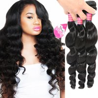 Wholesale 18 inch hair extentions resale online - Hot Sale Brazilian Loose Wave Cheap A Natural Wavy Hairstyles Malaysian Peruvian Indian Virgin Human Hair Extentions Price