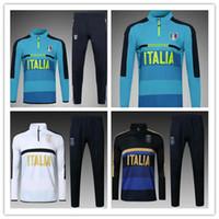 Wholesale italy trains - 2016 2017 ItALY tracksuit training suit 16 17 18 ITALIAN tracksuit DE ROSSI INSIGNE VERRATTI MARCHISIO GHIELLINI chandal training tracksuit