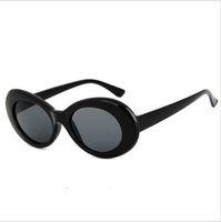 Wholesale kurt cobain sunglasses resale online - Children NIRVANA Kurt Cobain Glasses Classic Vintage Retro White Black Red Oval Sunglasses Alien Shades Sun Glasses boy girl Glasses
