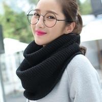 örme iplik yün kaşmir toptan satış-YENİ Moda Kış Sıcak Kadın Eşarplar Örme Kadınlar Chunky İplik Boyun Yün Kaşmir Eşarplar Pashmina Eşarp El yapımı sarar Eşarplar 13 Renkler