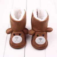 5cccc770e Bebê do inverno Primeiros Caminhantes crianças quentes sapatos Faux pele  meninas botas de bebê urso de malha menino bonito menina botas quentes do  bebê ...