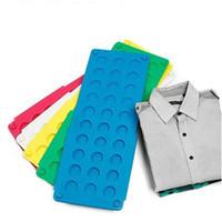 plastik çamaşırlar toptan satış-Taşınabilir Ev Flip Katlanır Kurulu Çok Funcation Plastik Hızlı Hızlı Klasör Pratik Çamaşır Organizatör Mavi Yüksek Sınıf 4 8zm Ww