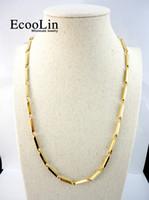 collar de 56cm al por mayor-Mujeres Goldwhip oro cadena de acero inoxidable de 56 cm de diámetro nunca se desvanecen collares 22.06 pulgadas para mujer joyería de moda LR521