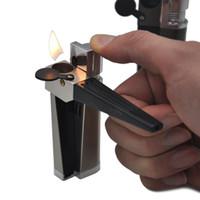 Wholesale vaporizer smoking metal pipes resale online - Sneak A Vape Click N Vape Mini Herbal Vaporizer Creative Lighter with Pipe Multifunctional Smoking Accessories Metal Lighters Pipes kit