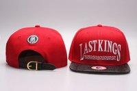 dos en cuir rouge achat en gros de-2018 vente chaude Last Kings Strapback casquettes rouge LK Snapbacks chapeaux de la mode des hommes LastKings en cuir bride à bord en cuir snap back