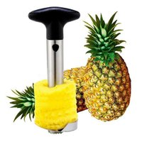 Wholesale smart knife - Smart pineapple peelers hot novelty fruit tools 304 stainess steel pineapple corer slicer peeler cutter parer knife color box 230g