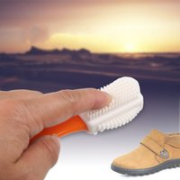 Wholesale boot shoe brush - 3 Side Cleaning Brush Wear Resistant Clean Tools For Suede Nubuck Boot Shoes S Shape Care Brushes Creative 3 5yd BB