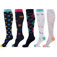 melhor maternidade venda por atacado-5-pack meias de compressão para as Mulheres Homens 20-30 mmHg - Meias de compressão Melhor para Corrida, Crossfit, Viagem, enfermeira, maternidade Pregna