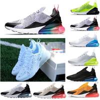 buy popular 2bea8 86d5f 2018 Nike air max 270 airmax air270 max270 chaude en plein air marche plat  chaussures de sport de course pour hommes adultes lacets mâle Marque  baskets ...