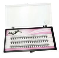 Wholesale cluster lashes - Fashion 60pcs Set Professional Makeup Individual Cluster Eye Lashes Grafting Fake False Eyelashes 477N Free Shipping