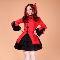 Wholesale Chinese Dress Cosplay - Shanghai Story French Maid Costume Cosplay Lolita Fancy Dress Chinese Dress for girls
