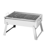 Wholesale bbq stove - Basic Fund Outdoor Picnic Thickened Stainless Steel Medium Barbecue Stove Portable Folding Barbecue Rack BBQ Tool