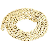 Wholesale Cut Diamond Necklace - Mens Real 10K Yellow Gold Diamond Cut Fancy Miami Cuban Chain 8.5mm Necklace 28""