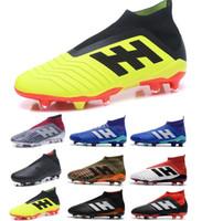 venda de botas para crianças venda por atacado-2018 New Kids Mens Mulheres Predator 18 FG Futebol Chuteiras Crianças Botas de Futebol Melhores Vendas Meninos Botas De Futebol Da Juventude sapatos de futebol