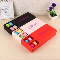 Wholesale macaron biscuit resale online - Macaron Box Holds Cavity cm Food Packaging Gifts Paper Party Boxes For Bakery Cupcake Snack Candy Biscuit Muffin Box SN276
