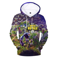 Wholesale anime clothes hoodie online - Fortnite D Printed Mens Hoodies and Sweatshirts Fornite Game Funny Sweat Shirt Men Hooded Jacket Male Tracksuit Anime Clothing