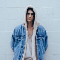 ropa urbana swag al por mayor-Vellsar Sherpa Hoodie Streetwear Ropa Kanye West Moda Hip Hop Skateboard Ropa urbana Swag Hombres Sudaderas con capucha Cardigan