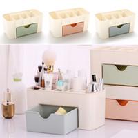 Wholesale Rectangle Function - New Multi-function Storage Boxes Drawer-type Space Saving Plastic Cosmetics Storage Box Home Office Desktop Storage Bin WX9-258