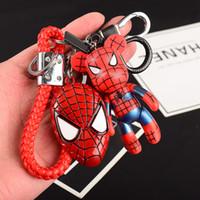 batman tokaları toptan satış-Araba Anahtarı Toka Batman Spiderman Aksiyon Figürleri Anahtarlık Bel Asılı Kolye Avengers Serisi Anahtarlık Oyuncak 13 5db WW