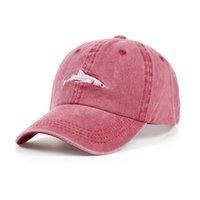 Wholesale wholesale shark baseball caps - Fashion Cotton Baseball Caps Embroidery Shark Pattern Designer Sun Hats For Men And Women Sports Snapbacks Popular 10 9kb BB
