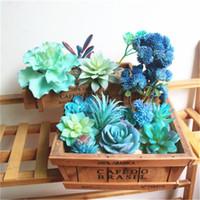 фея куклы торт оптовых-Искусственные цветы моделирование сочные растения мульти-стиль пластмассы поддельные Цветы для дома сад партии DIY украшения высокое качество орнамента