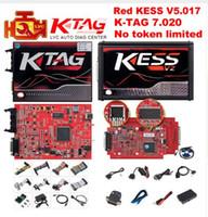 programador mestre venda por atacado-Master Online KESS V2 V5.017 Vermelho UE V2.47 / V2.23 ECM Titânio Sem Token KTAG V7.020 OBD2 Gerente Sintonia K-TAG 7.020 V2.23 ECU Programador