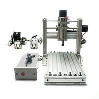 tezgah değirmenleri toptan satış-DIY CNC 3020 Metal 3 Eksen 4 Eksen Mini Ahşap 2030 CNC Gravür Makinası Freze Tezgahı