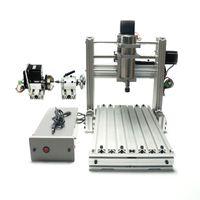 ingrosso incisione mini cnc-Fai da te CNC 3020 metallo 3 Asse 4 assi di legno Mini 2030 per incidere di CNC fresatrice tornio