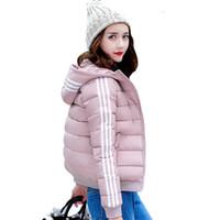 kış şortlu kadınlar toptan satış-2018 Öğrenciler Kadınlar Kış Ceket Sonbahar Dış Giyim Womens Temel Ceket Pamuk Yastıklı Kadın Kısa Ceket Jaqueta Feminina Inverno
