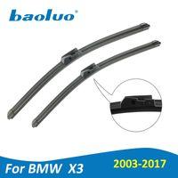 Wholesale Bmw F25 - BAOLUO Wiper Blades For BMW X3 E83 F25 2003 2004 2005 2006 2007 2008 2009 2010 2011 2012 2013 2014 2015 2016 2017 Natural Rubber