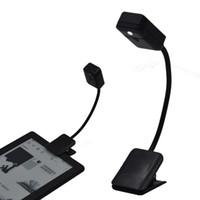 светодиодный фонарь для чтения оптовых-Прочный светодиодный свет для чтения электронных книг E-Reader Планшетный ПК Ноутбук Ночник Освещение Лампа Фонарик для чтения книг Для Kindle Для Kobo