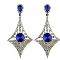 Wholesale knot earings for sale - Group buy noble high quality low price diamond crystal lady s earings rtr