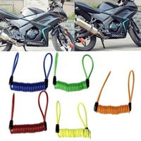 Wholesale cable parts accessories - 2018 m cable bicycle lock rope anti theft Motorbike Disc Lock Security Reminder Motorcycle bicicleta safety Parts Accessories