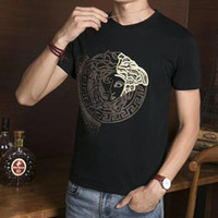 Wholesale flash print button - 2018 HOT Men skulls Polo shirts summer fashion calssic luxury brand clothing short sleeve Business & Casual solid male polo g t shirts 8