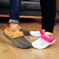 Wholesale clogs for men for sale - Group buy Winter Shoes For Women Soft Plush Slippers Casual Crocus Clogs With Fur Fleece Lining Home Floor Warm Slipper Fur Shoes