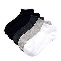 c13ba6cbeb8 5 Pairs Plus Size Solid Color Mens Cotton Ankle Short Boat Socks Casual  Summer Breathable Comfortable Elastic. Supplier  purlove