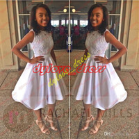 Wholesale sexy coctail dresses for sale - Group buy 2018 sexy cheap elegant plus size white short african prom dress coctail dress homecoming dresses