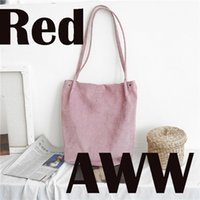 Wholesale Interior Art - Corduroy canvas bag of large capacity literature and art school wind 100 shoulder bag.