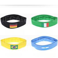 cinto mundial venda por atacado-Suado Headband 2018 Rússia World Cup Tema Fã de Futebol Jogo de Bodybuilding Yoga Bandeira Do Cabelo Belt Frete Grátis 4 mc W