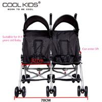 автомобильный зонтик оптовых-Bello twins baby stroller portable car umbrella suspension folding child double wheelbarrow emperorship