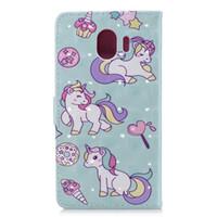 Wholesale iphone 7s wallet case for sale - For Sony L2 For Huawei P20 Lite Enjoy S Galaxy J4 J6 A6 Plus D Unicorn Flower Lace Leather Wallet Case Dreamcatcher Card Flip Cover